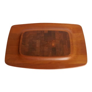 Dansk Wood Cutting Board/ Hors D' Ouevre Tray by Jens H. Quistgaard For Sale