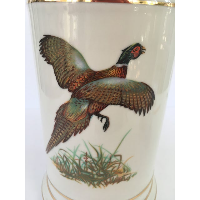 English Traditional Vintage Pheasant Lamp For Sale - Image 3 of 4