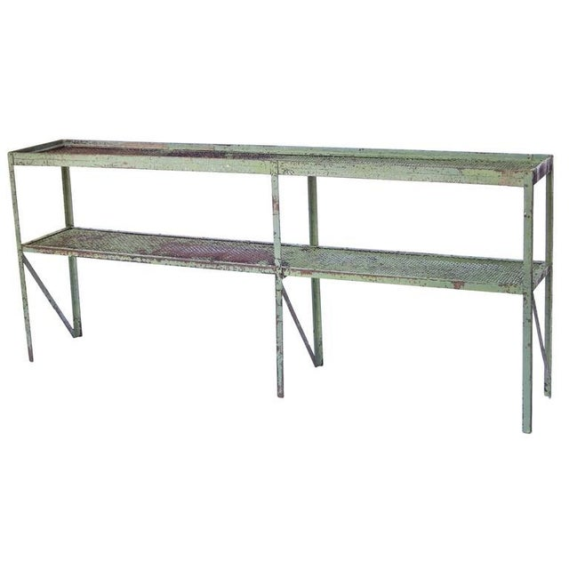 Long Narrow Industrial Mesh Console - Image 6 of 11