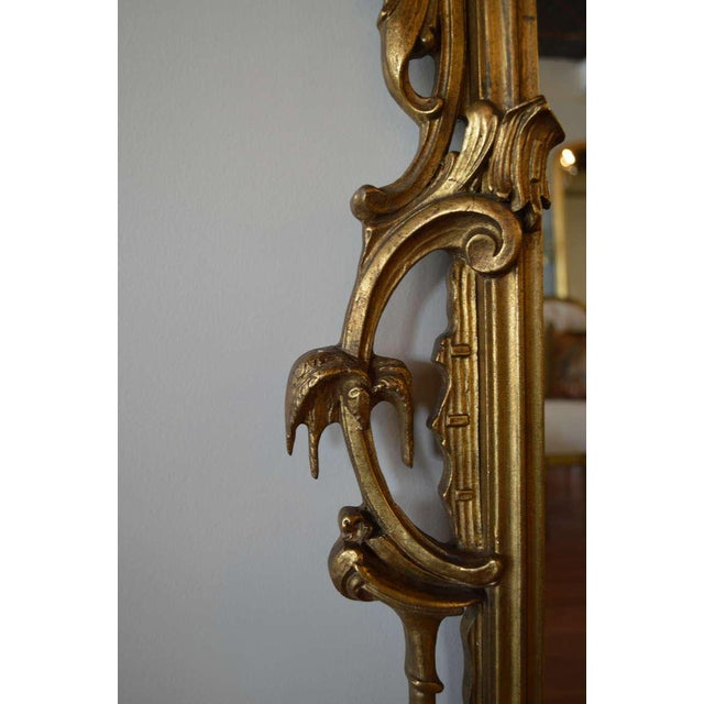 Early 20th Century Vintage Rococo Style Gilded Mirror For Sale In New York - Image 6 of 8
