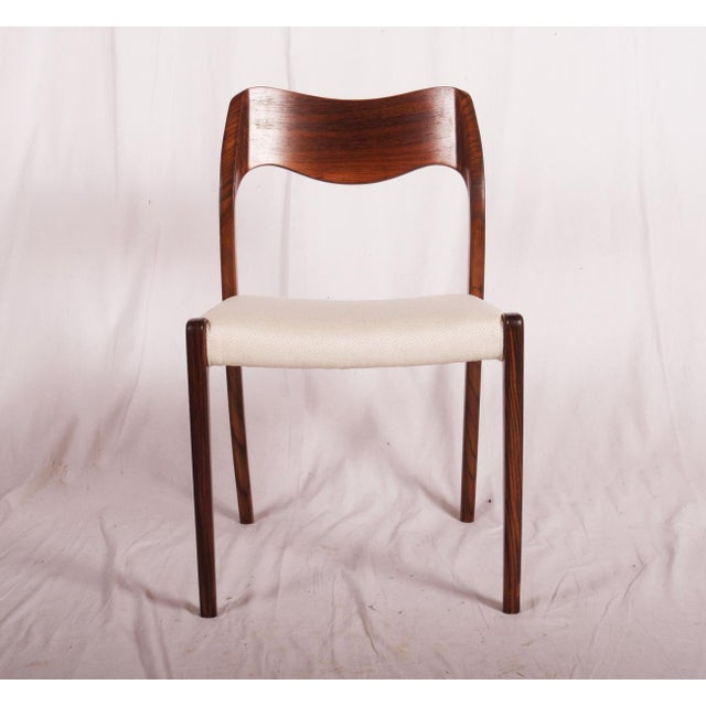 Model 71 Rosewood Dining Chairs by Niels O. Møller for JL Møllers, 1951 For Sale - Image 9 of 11
