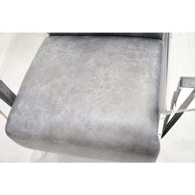 Bespoke Modernist Lucite Acrylic Lounge Armchair - in Showroom For Sale - Image 9 of 12