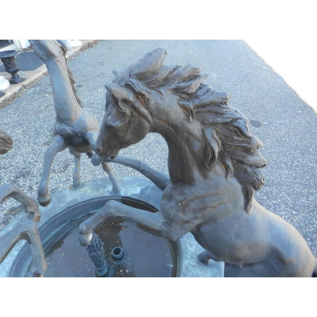 Bronze Horse Fountain on a Pedestal Base For Sale - Image 4 of 5