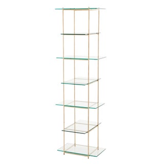 Arteriors Brooks Gold Lef & Glass Etagere