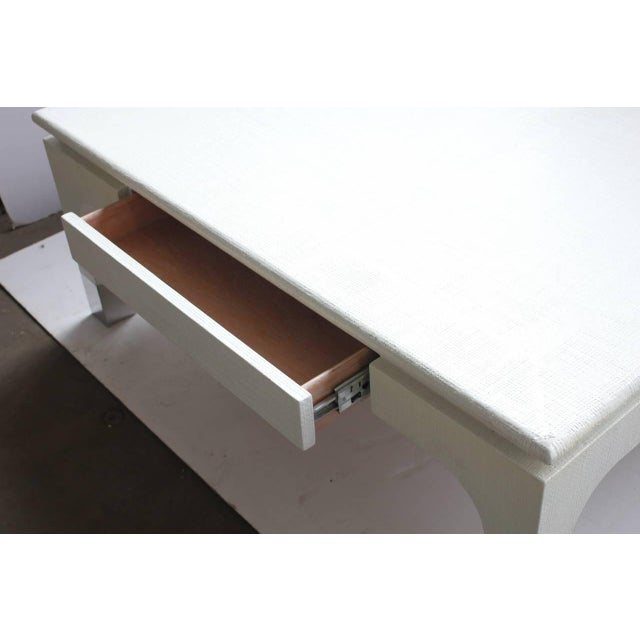 Contemporary 1980s Harrison-Van Horn Modern Lacquered Raffia Coffee Table For Sale - Image 3 of 6