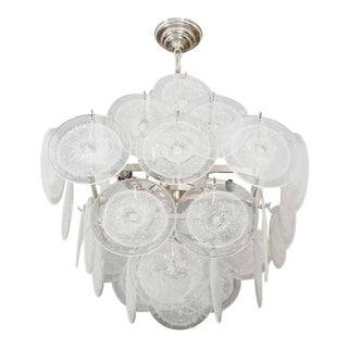 Custom 36 Clear Disc Chandelier For Sale