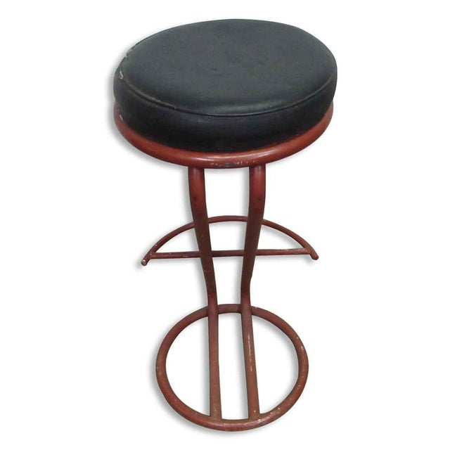 Red Metal Base Stool - Image 7 of 7