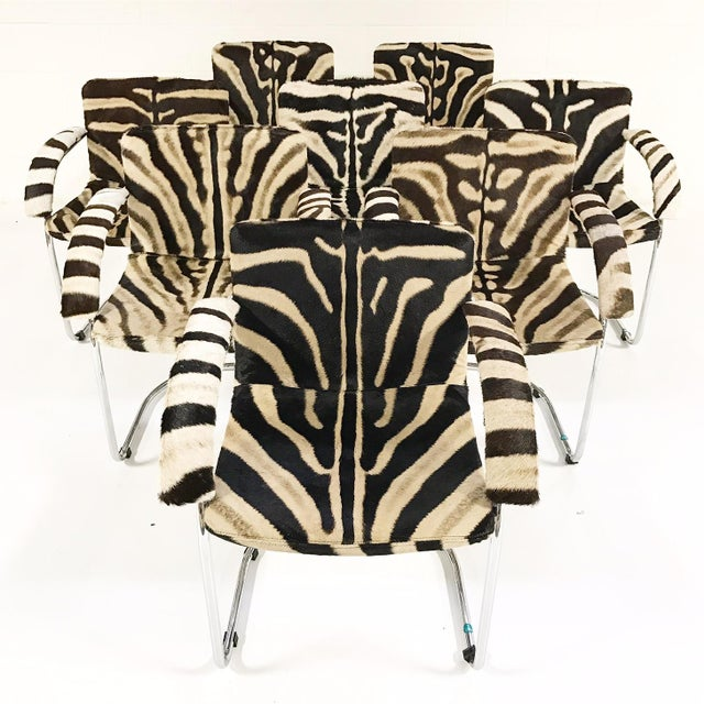 Giovanni Offredi for Saporiti Lens Chairs in Zebra - Set of 8 - Image 2 of 11