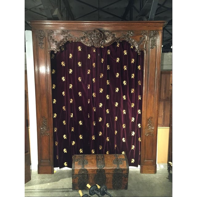 Mid 18th Century Antique French Boiserie Door Surround from the 1700s For Sale - Image 5 of 11