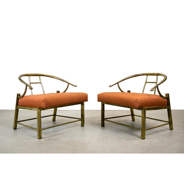 Brass Lounge Chairs by Mastercraft - Pair - Image 2 of 10