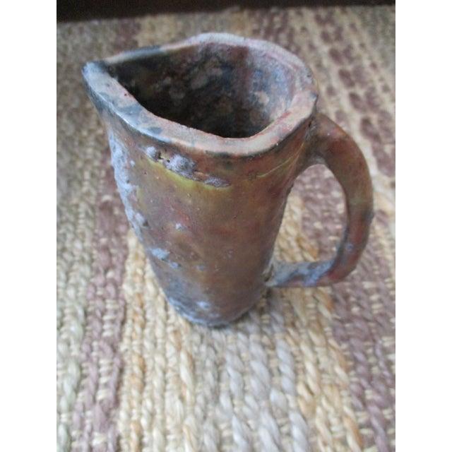 Brutalist Thick Glazed Pitcher Vase - Image 6 of 10