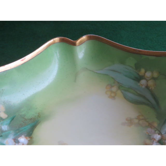Late 19th Century Antique Hand-Painted Signed Porcelain Bowl by Limoges For Sale - Image 5 of 13