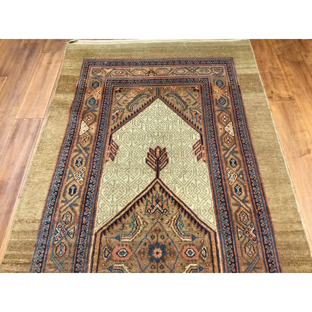 "North West Persian Hall Runner Origin: Persia US Size: 3 ' 6 "" x 14 ' 10 "" Circa: 1890 Metric Size: 1.07 x 4.52 meters"