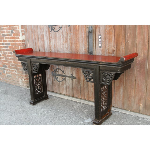 Antique Carved Asian Alter Table For Sale In Los Angeles - Image 6 of 8