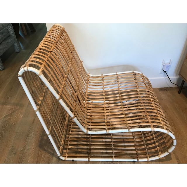 Contemporary Rattan and Metal Chair For Sale - Image 3 of 8