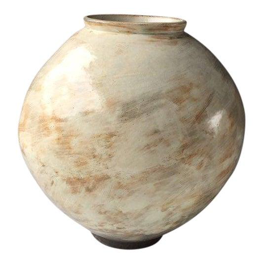 Kang Hyo Lee, Buncheong Moon Jar, 2016 For Sale