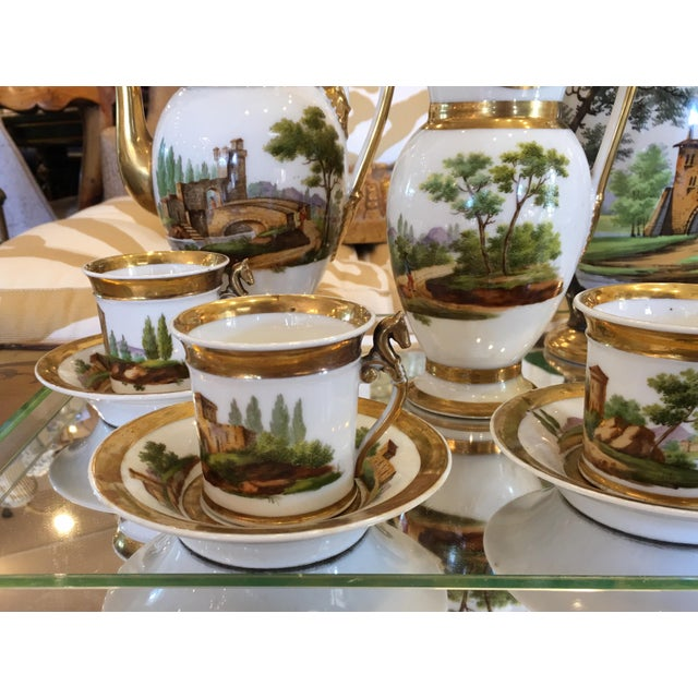 Antique Old Paris Porcelain Coffee Set - 12 Pieces - Image 5 of 7