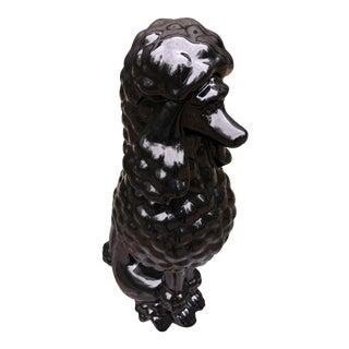 Large Black Porcelain Poodle Sculpture For Sale