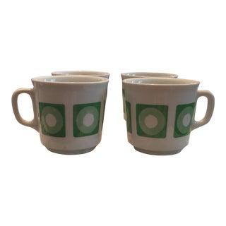 Mid-Century Italian Op Art Espresso Mugs - Set of 4