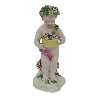 18th-C Derby Porcelain Cherub - C. 1790 For Sale
