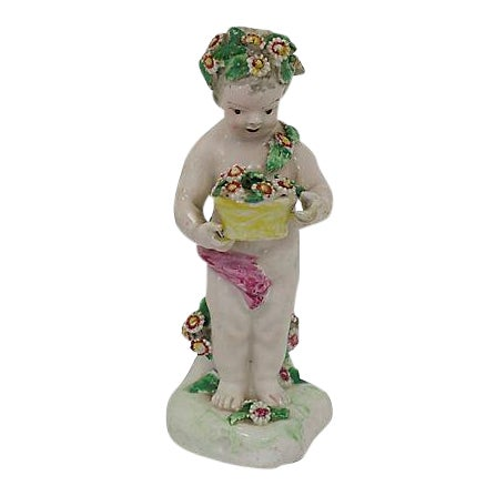 18th-C Derby Porcelain Cherub - C. 1790 For Sale