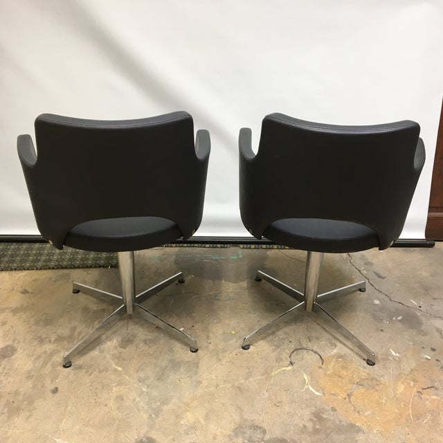 ICF Group Mid-Century Style Swivel Chairs - a Pair For Sale In Washington DC - Image 6 of 10