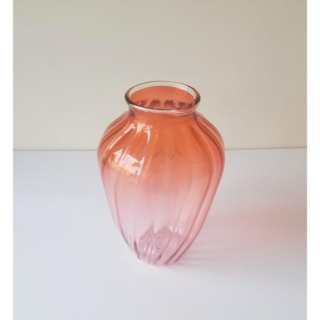 1987 Robbie Miller Blown Glass Vase for Traver Gallery Research For Sale - Image 4 of 13