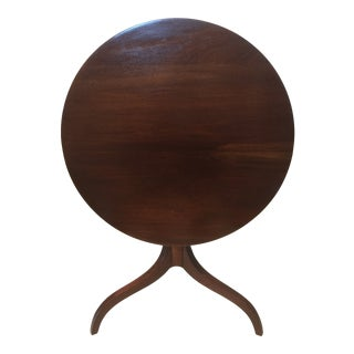 Antique Mahogany Flip Tilt Top End Table For Sale