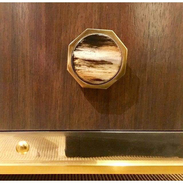 Metal Modern Henredon Bihuber Barclays St. Bar Cabinet For Sale - Image 7 of 10