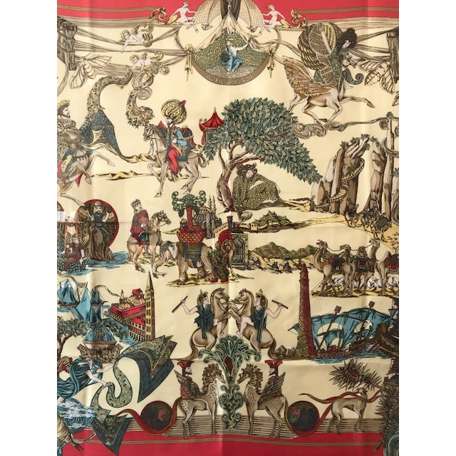 Silk Hermes French Silk Scarf Framed Art For Sale - Image 7 of 7