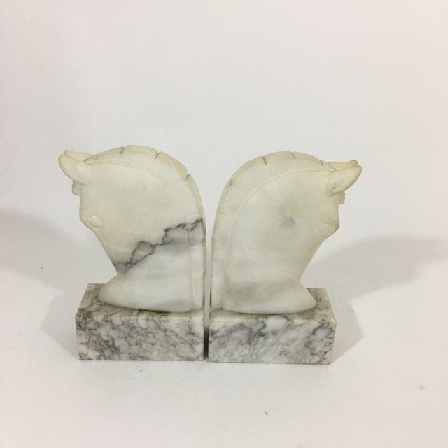 Marble Trojan Horse Head Bookends For Sale In New York - Image 6 of 9