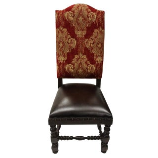 21st Century Vintage French Traditional Red Dining Chair For Sale