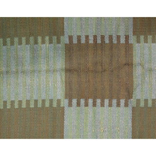 "Mid-Century Modern Pasargad Scandinavian Design New Zealand Overdyed Wool Rug - 7′7"" × 9′1"" For Sale - Image 3 of 6"