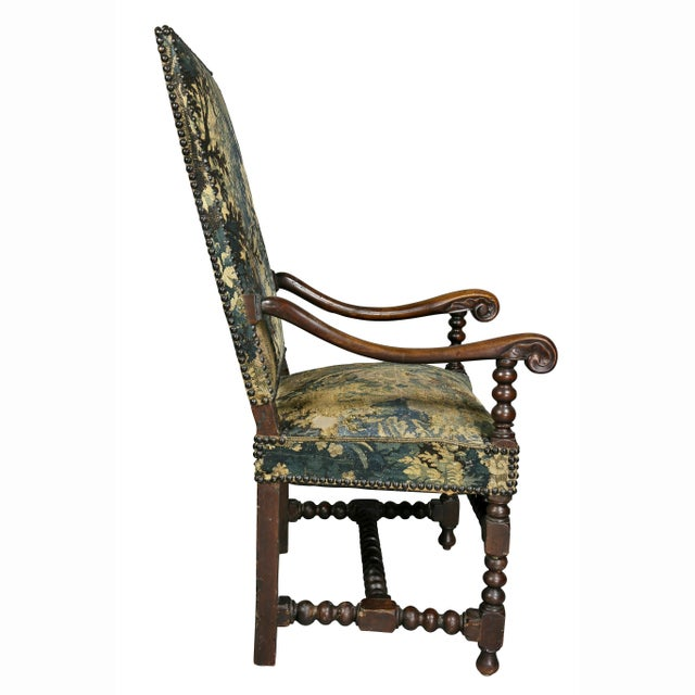 Flemish Baroque Walnut Armchair For Sale - Image 9 of 12
