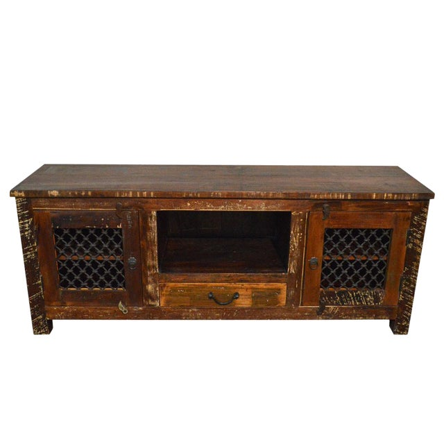 Reclaimed Wood Rustic Entertainment Center - Image 1 of 3