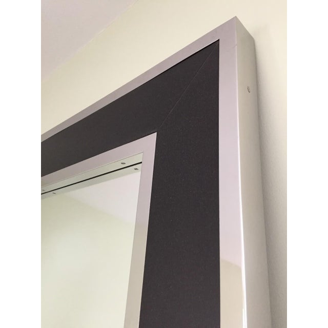 From Williams-Sonoma 'Polished stainless steel borders exotic veneer, giving our Fulton mirror warm modern style that's...