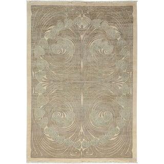 "Shalimar, Hand Knotted Art Nouveau Area Rug - 6' 2"" X 8' 10"" For Sale"