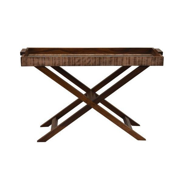 2010s Reclaimed Wood Tray Table For Sale - Image 5 of 8