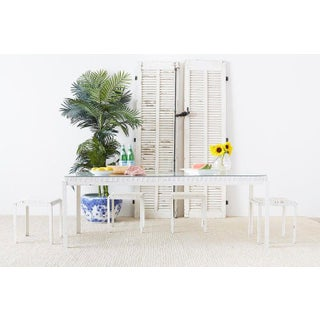 Danny Ho Fong California Modern Woven Cane Dining Table Set Preview