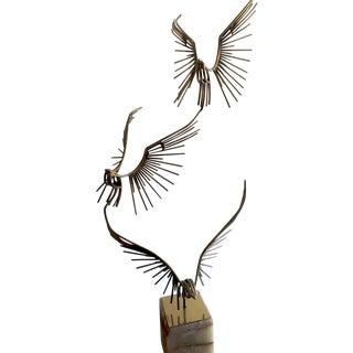 Jere 3 Eagle Sculpture on Marble Platform For Sale