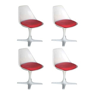 Maurice Burke Tulip Style Side Chair - Set of 4 For Sale