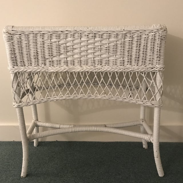 Vintage Wicker Plant Stand For Sale - Image 4 of 13
