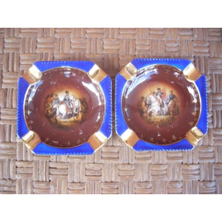 18th Century Military Scene Ashtrays - A Pair Preview