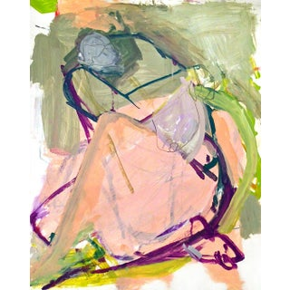 Contemporary Abstract Figure Painting on Paper For Sale