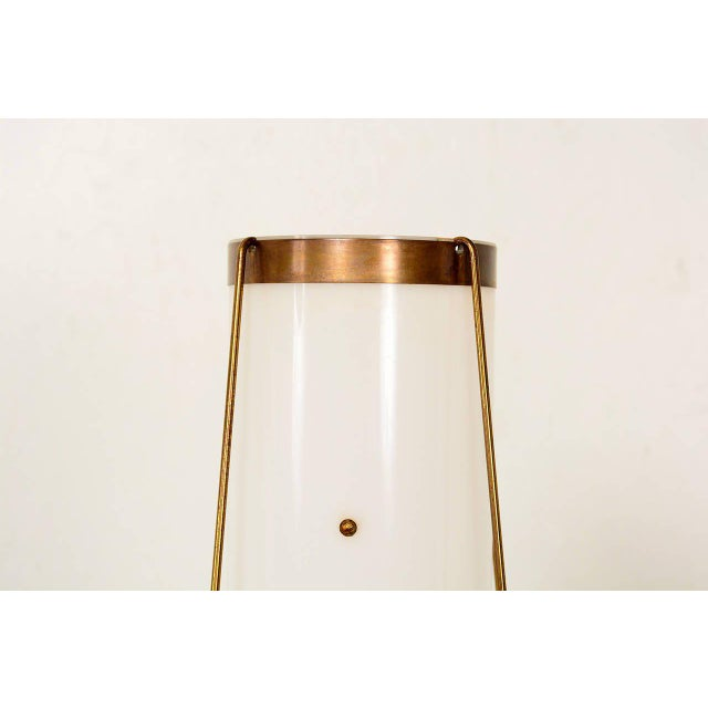 Modern Brass & Acrylic Table Lamp For Sale - Image 3 of 7