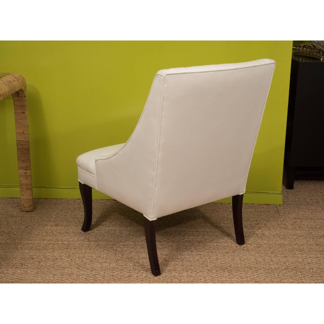 Vintage Slipper Chairs - A Pair For Sale In New York - Image 6 of 8