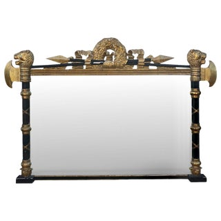 19th Century Regency Painted and Parcel Gilt Mirror For Sale