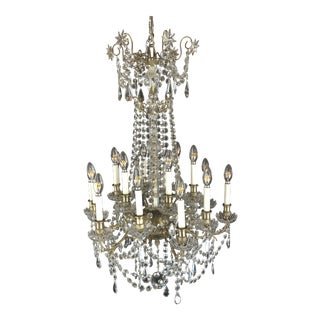 Large French 24 Light Napoleon III Baccarat Chandelier Circa 1870s