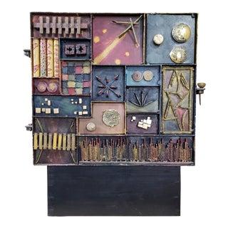 Brutalist Sculptured Cabinet For Sale