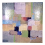 Image of Vintage Modern Abstract Painting For Sale